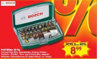 Bosch Bitsatz für 8,99 lokal @ Max Bahr
