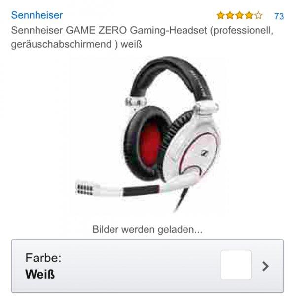 Amazon.de - Sennheiser G4me Zero, weiß // PVG 184,04