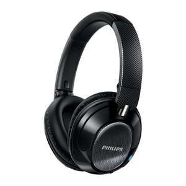 Philips SHB9850NC/00 kabelloser Kopfhörer mit Geräuschreduzierung (Bluetooth, 40 mm Treiber, weiche Ohrpolster) schwarz