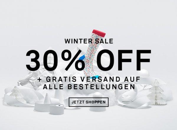Happy Socks Wintersale - 30%Rabatt + Gratis Versand