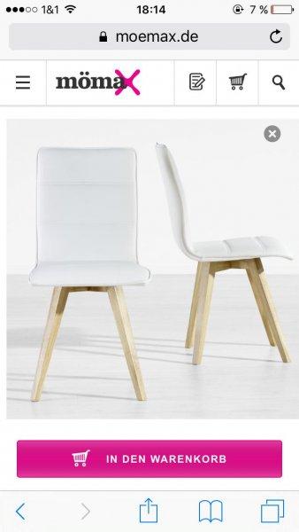 (mömax) Stuhl lenny lederlook für 49€ inkl. Versand