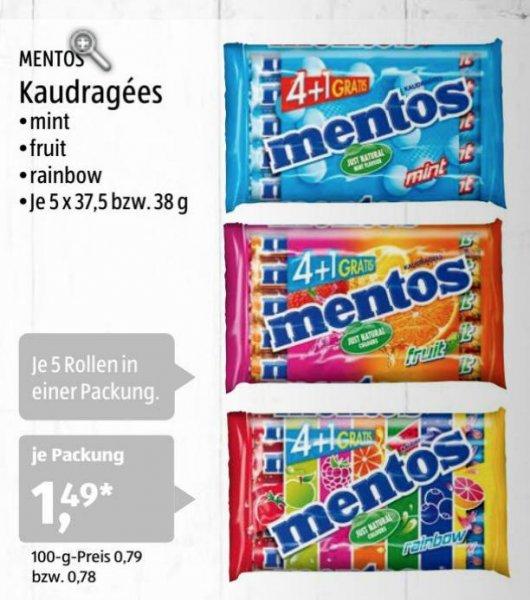[Aldi-Süd] Mentos 5er Pack für 1,49€ (Mint, Fruit oder Rainbow) ab 21.01.2016