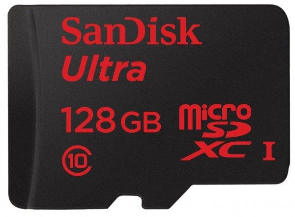 SanDisk Ultra microSDXC 128GB bis zu 80 MB/?Sek + SD-Adapter [Neueste Version] @Amazon & Mediamarkt