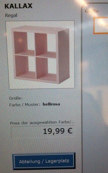 [LOKAL] IKEA Berlin Tempelhof - KALLAX 4er in rosa
