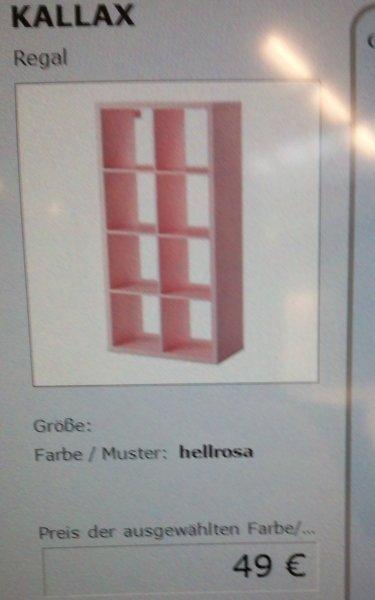 [LOKAL] IKEA Berlin Tempelhof - KALLAX 8er in rosa