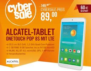 Alcatel onetouch Pop 8S LTE 8 GB Android 4.4 weiß @Cybersale
