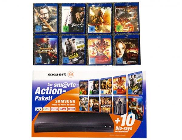 Samsung BDJ5500 Bundle - inkl. 10 Blu-Rays - 3D Blu Ray Player