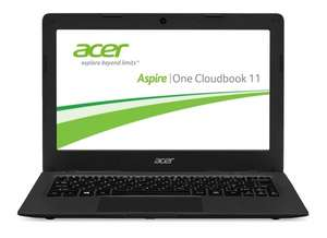 [Amazon] Acer Aspire One Cloudbook 11 AO1-131-C58K 29,46 cm (11,6 Zoll HD) Notebook (Intel Celeron N3050, 2GB RAM, 32GB eMMC, Intel HD Graphics, Win 10 Home) schwarz