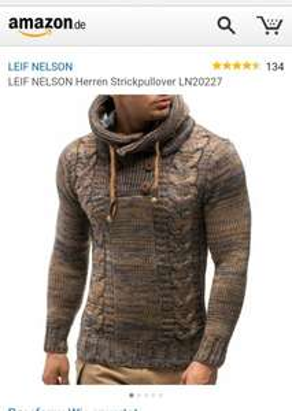 Leif Nelson Strickpullover bei Amazon 50% billiger + 2,90 Versand