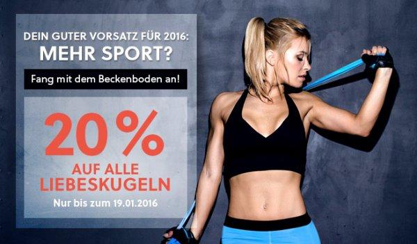 (adultshop.de) 20 % auf alle Liebeskugeln im gesamten Sortiment + 10 Euro Gutschein mit 35€ MBW
