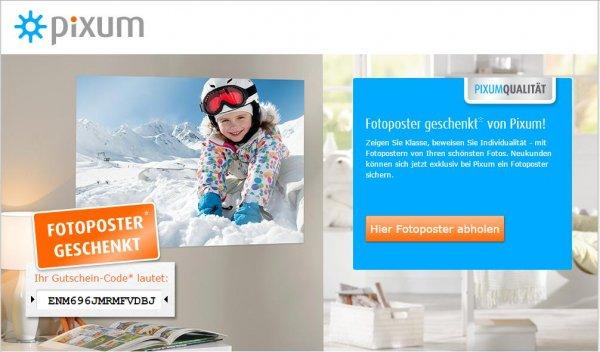 Pixum Fotoposter Glänzend 45x30 oder 40x30cm Gratis nur Versandkosten 3,49€