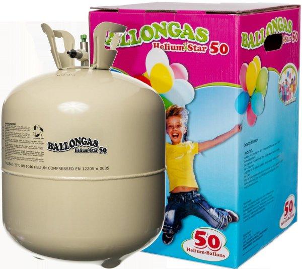 Ballongas XXL für ca. 50 Ballons, Grußkarte u. Ballongewicht für 26 € idealo 37 € mit Dailydeal Gutschein