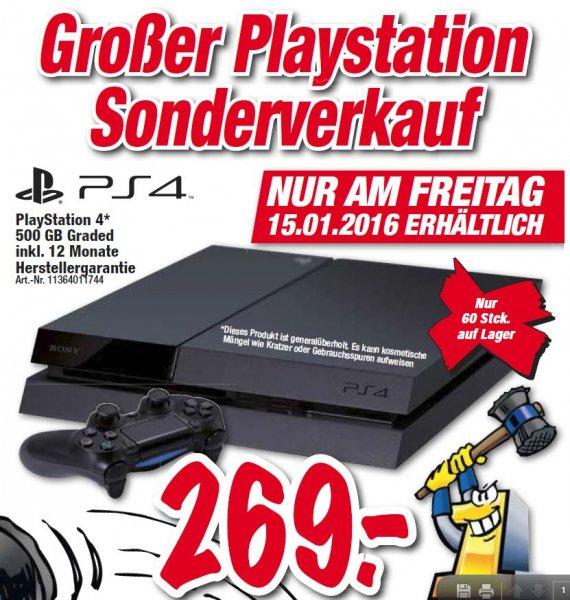 PS4 mit 500gb (generalüberholt) bei Expert Technoland Esslingen am Freitag