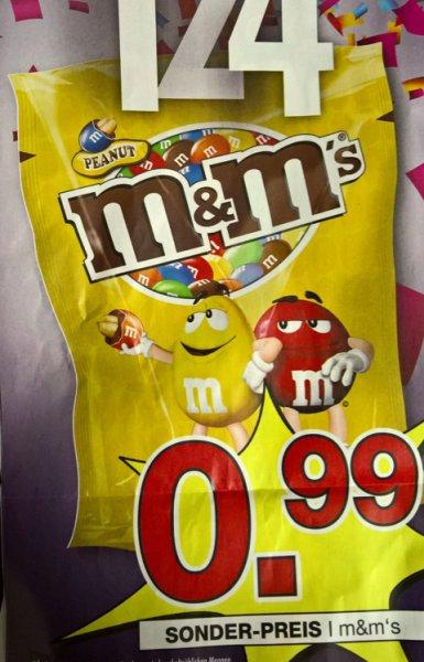 M&M Peanut 200g für 0,99 € ( Lokal in allen Hofmeister Möbelhäusern