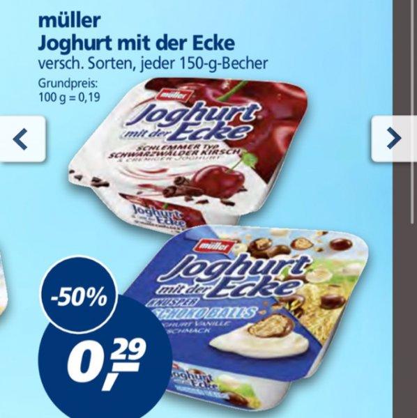 [real] Müller der Joghurt mit der Ecke 50% Rabatt