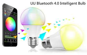 [Everbuying CN] LED-Leuchtmittel Magic Blue UU E27 (Bluetooth 4.0, 2800K - 3200K, 16 Mio. Farben, 4,5W) 8,14€