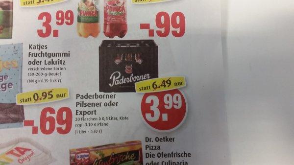 Paderborner Pils 3,99 € pro Kiste (Markant Quickborn)