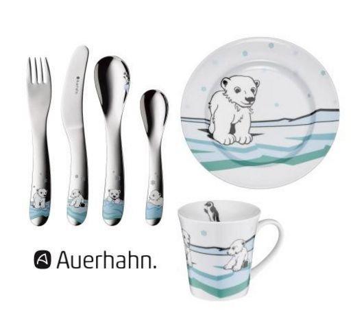 """Auerhahn™ - 6-tlg. Kinder-Set """"Ice Bear"""" (Besteck,Tasse,Teller) für €15,98 [@WMF.de]"""