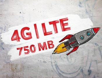 750 MB mit 50 Mbit/s  4G LTE + 200 Frei Minuten Vodafone CallYa 10 € Guthaben