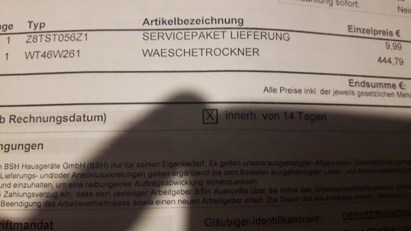 (Lokal München: FÜR UNS SHOP) Siemens Wäschetrockner WT46W261 (8kg / A++)
