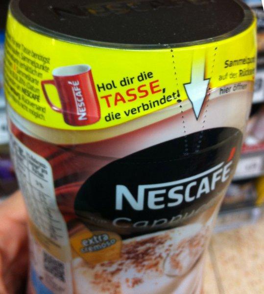 Nescafe Tasse für zwei Sammelpunkte von Nescafe Instant z.B. Classic, Cappuccino, 3 in 1