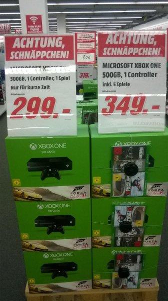 Xbox one mit 5 Spielen @ MM Hamburg für 349€