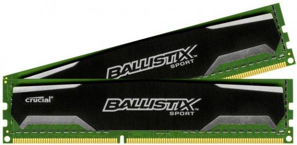 [Digitalo] Crucial Ballistix Sport Arbeitsspeicher - DDR3-RAM, 8GB (2 x 4GB), 1600MHz, CL9, 1,5V, Dual Channel Kit - für 35,93€