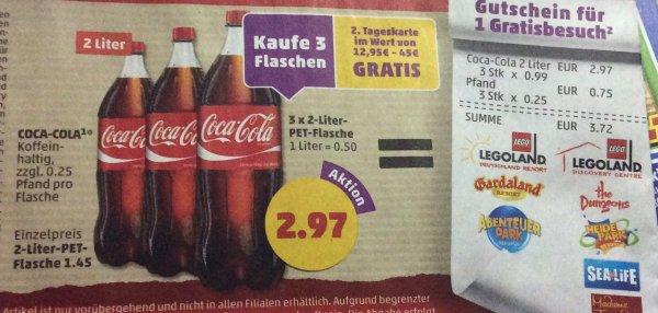 (Penny)3x2 Liter Coca Cola für 2,97€ zzgl.Pfand