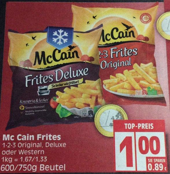 (Edeka Minden-Hannover) McCain 1-2-3 Frites Original 750g für 0,50€