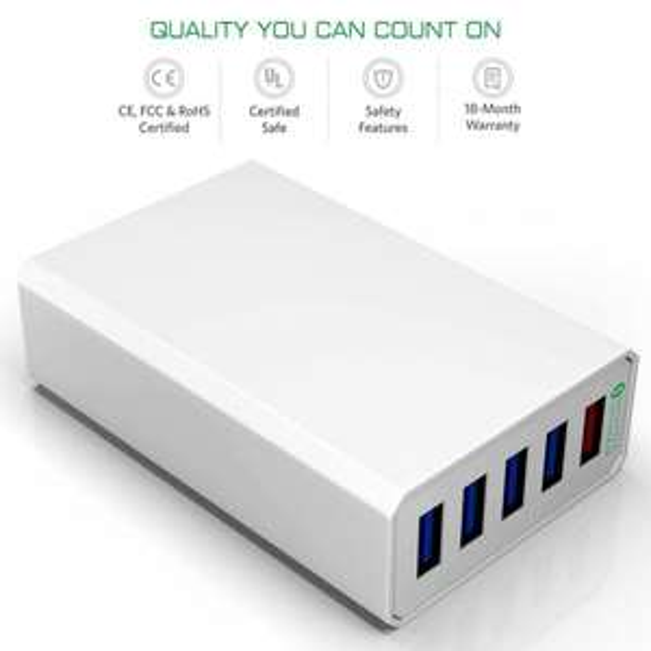 @Amazon: Powerport 5 Multi-Port USB Desktop Ladestation Profer für 16,99 €