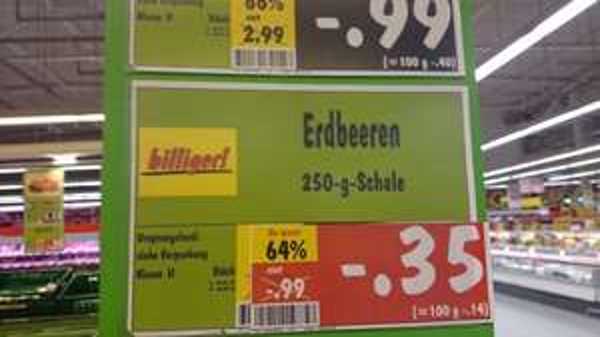Lokal? Kaufland Stuttgart Mühlhausen. 250g Erdbeeren