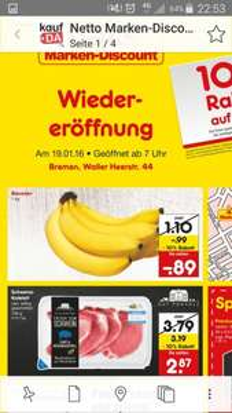 (LOKAL) Netto Bremen Walle Bananen 89 Cent