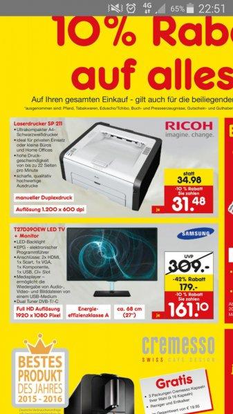 (LOKAL) Netto Bremen Walle Ricoh Laserdrucker 31,48