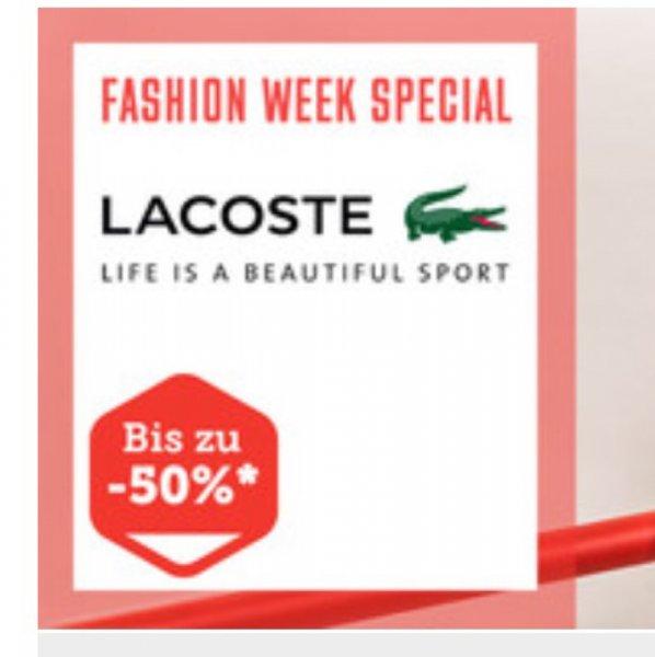 Lacoste Sale bis zu 50% @Brands4Friends