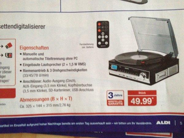 Encoder Medion Schallplatten- und Kassettendigitalisierer 49,99€