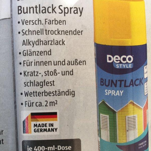Buntlack Spray verschiedene Farben Aldi Süd
