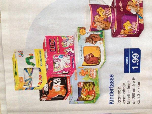 Raupe Nimmersatt, StarWars, Bibi ubd Tina, Filly, Grüffelo, Dino: Kindertasse für 1,99€, Aldi