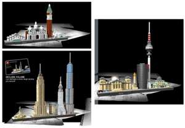 Lego Architecture 21026 Venedig  / 21027 Berlin / 21028 New York / 21031 Burj Khalifa [Spiele Max]