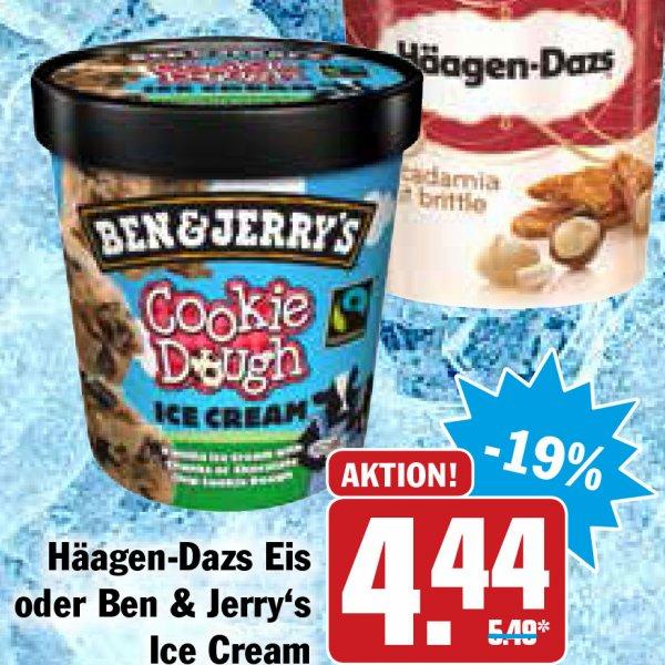 Ben & Jerry's und Häagen-Dazs Eisbecher für 4,44 € beim HIT