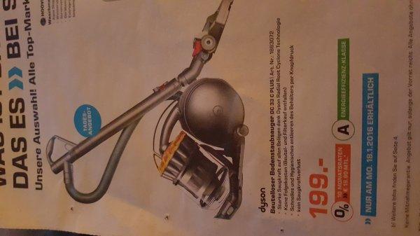 [Saturn ] Dyson DC 33c plus für 199 EUR nur Montag 18.1.