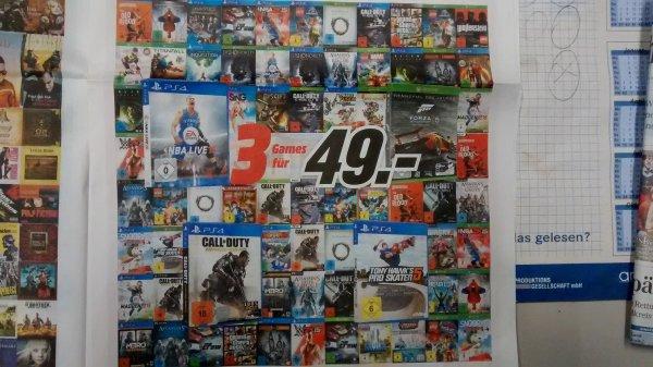 [MediaMarkt bundesweit] Aktion 3 Games für 49€ (PS4, PS3, PC, Xbox One) +4% qipu!