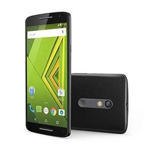 [Amazon.es] Motorola Moto X Play LTE + Dual-SIM (5,5'' FHD IPS, 1,7GHz Snapdragon 615 Octacore, 2GB RAM, 16GB intern, NFC, 5MP + 21MP, kein Hybrid-Slot, 3630 mAh mit Quickcharge, Android 5.1 -> Android 6) für 271,23€
