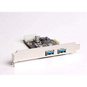 USB 3.0 High Speed Schnittstellenkarte: PCI Express Card, 2 Port Karte inkl. Versand nur 10,51€
