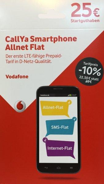 PrePaid Deal: CallYa Smartphone Allnet Flat mit 1GB zum Bestpreis 9,50€ inkl. 1. Monat