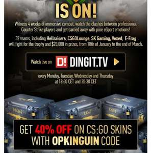 Kinguin CS:GO Sknins Rabatt 40%