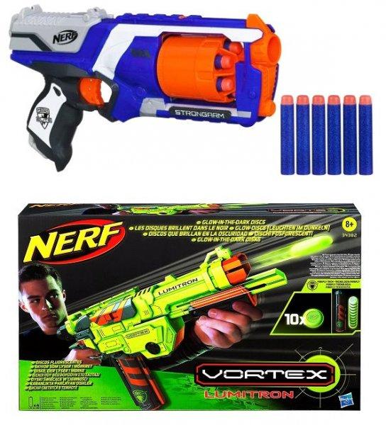 [Comspot] Nerf Vortex Lumitron Glow in the dark inklusive 10 Leuchtdiscs für 18,80€ oder NERF N-Strike Elite XD Strongarm für 13,80€ inc. Versand