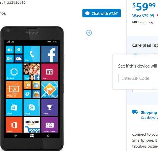 Für US Urlauber - Lumia 640 für 60 USD bei Walmart eventuell günstiger