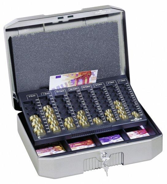 [Staples.de] Durable Geldkassette €UROBOXX®, Stahlblech, Tragegriff, 352 x 276 x 120 mm, anthrazit/grau 68,82 € VSK-frei