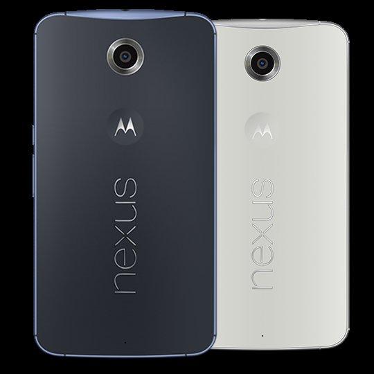 Nexus 6 blau & weiß 32GB 310€ (64GB 370€) direkt bei Motorola