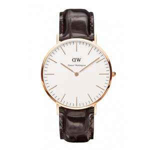 [Amazon] Daniel Wellington Classic York Herren-Armbanduhr Analog Quarz (One Size, weiß)